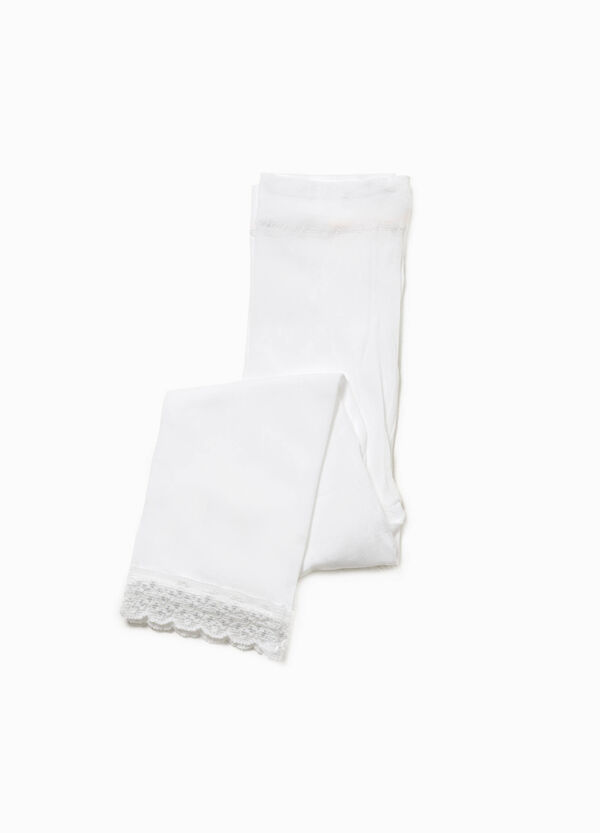 Footless tights with lace | OVS