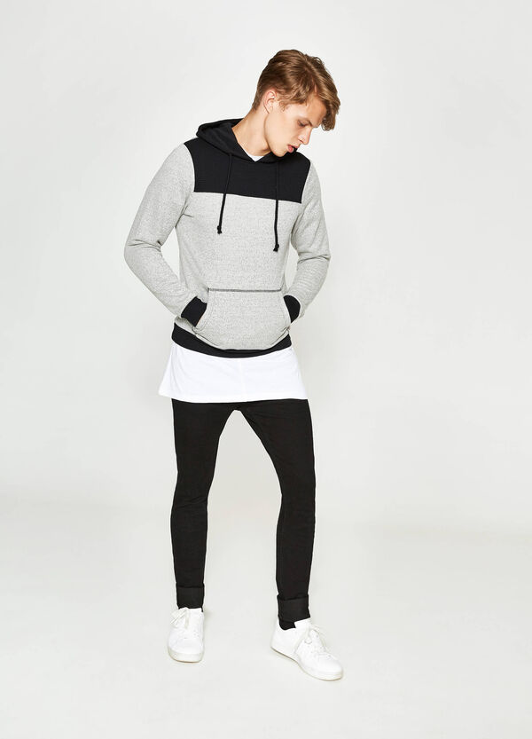 Cotton sweatshirt with quilted insert | OVS