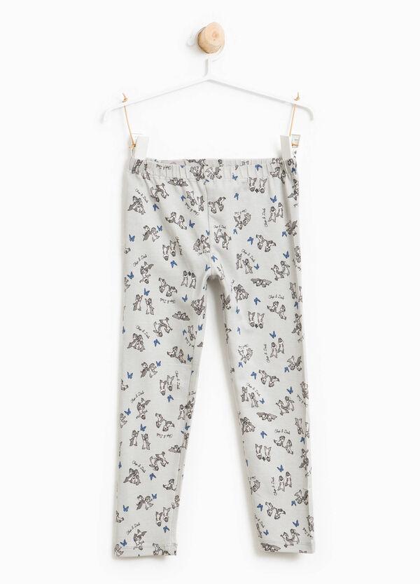 Chip 'n' Dale patterned cotton leggings | OVS