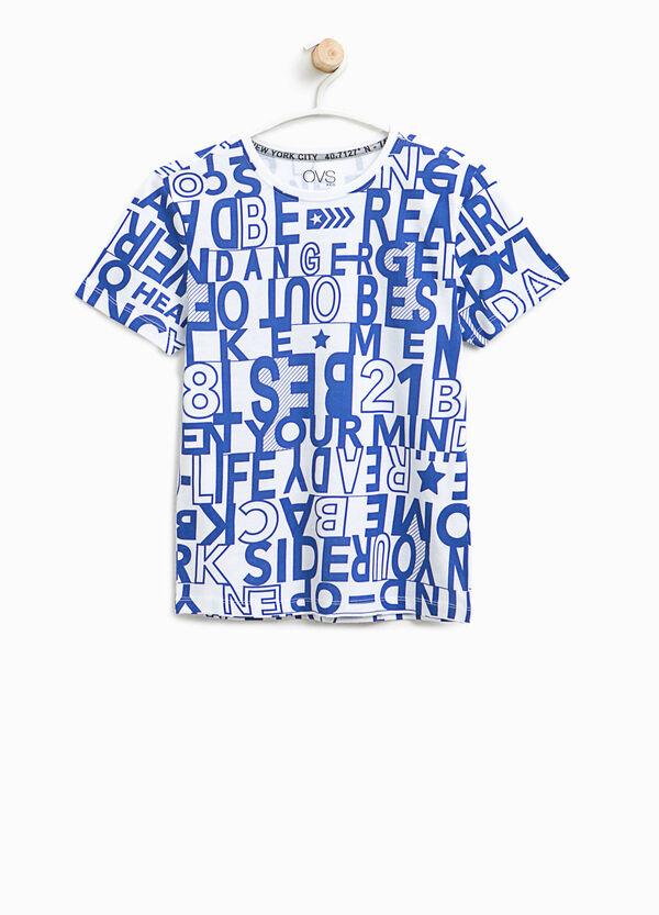 T-shirt in cotone fantasia lettering | OVS