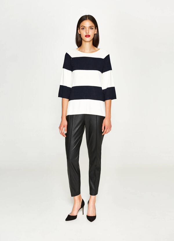 Striped pullover with three-quarter sleeves | OVS