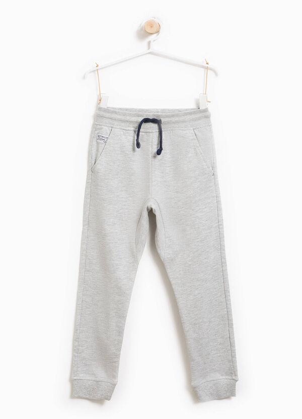 Pantaloni tuta in puro cotone con coulisse | OVS