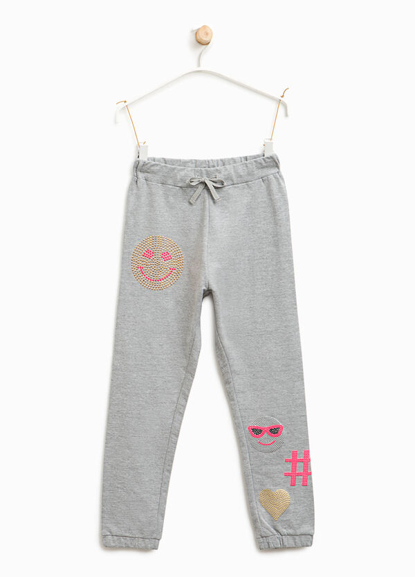Pantaloni tuta con strass | OVS