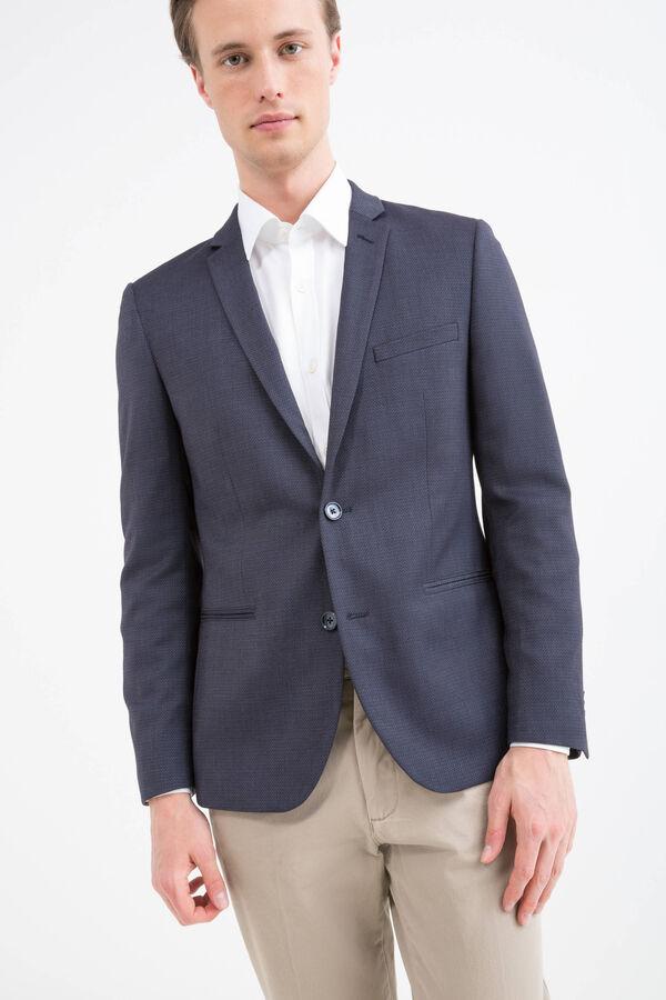 Slim fit stretch patterned blazer | OVS
