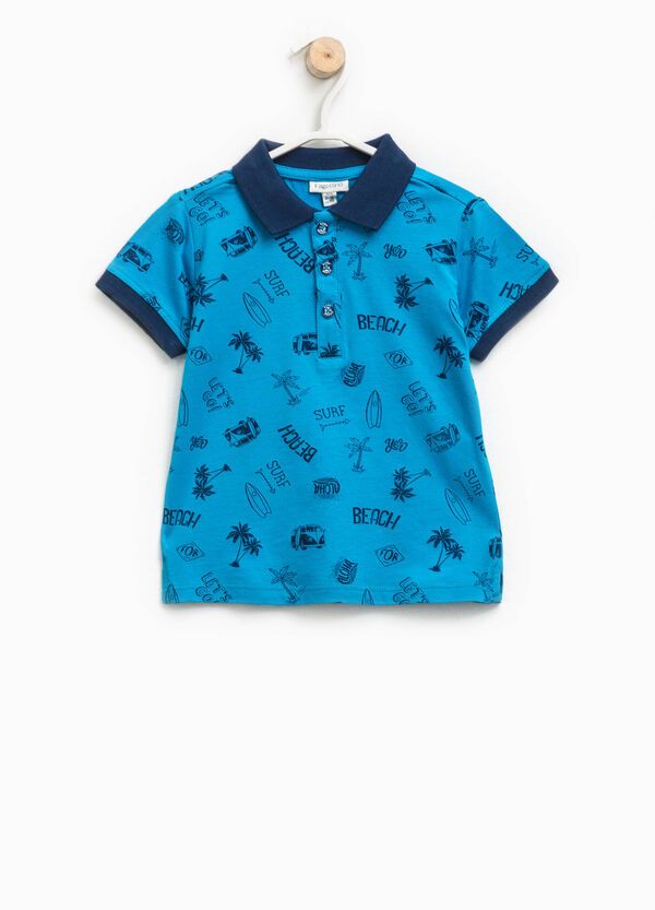 Polo shirt in 100% cotton with pattern | OVS