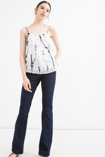 100% viscose top with pattern