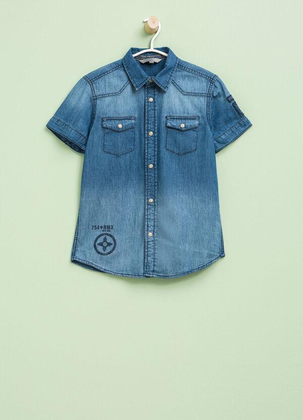 Short-sleeved denim shirt | OVS