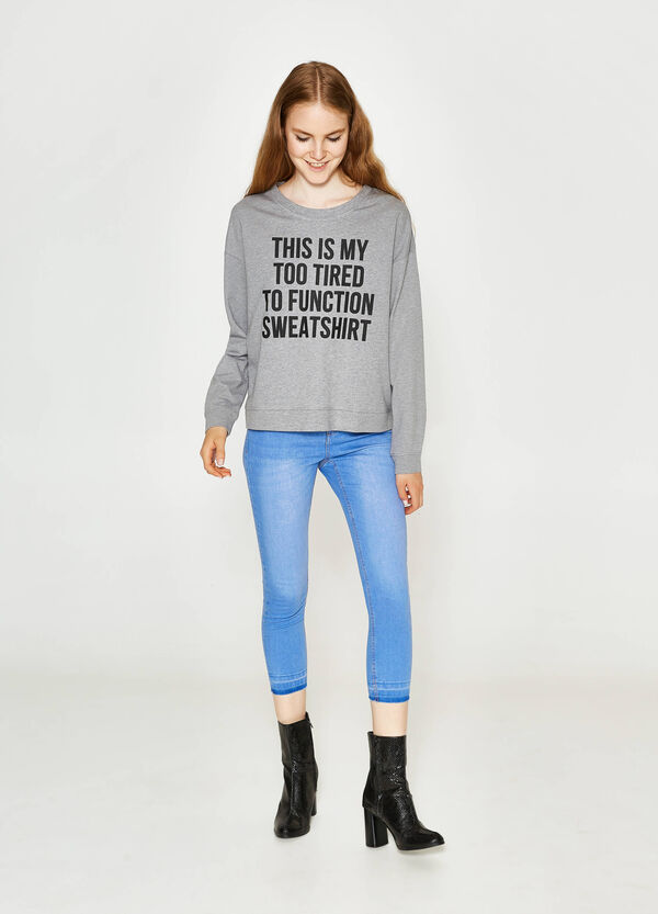 Jeans skinny fit crop stretch delavati   OVS