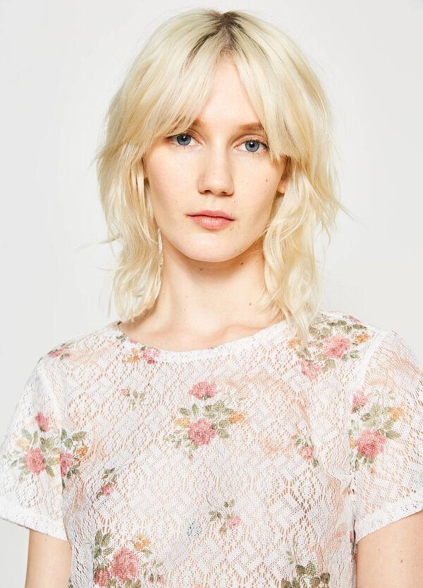 Blusa traforata stampa floreale | OVS