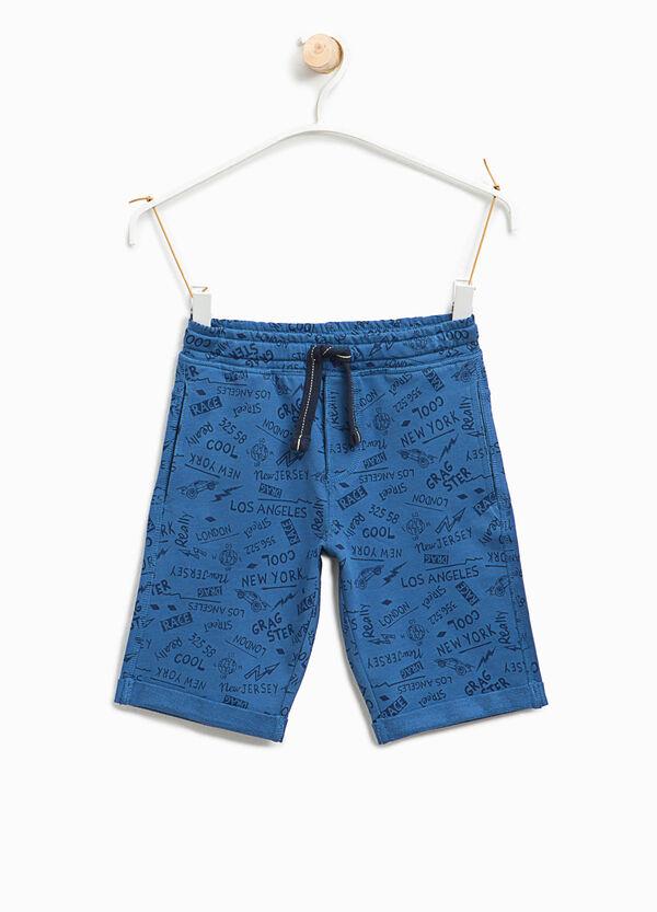 Lettering pattern Bermuda shorts | OVS