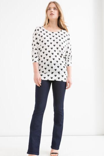 100% viscose patterned T-shirt
