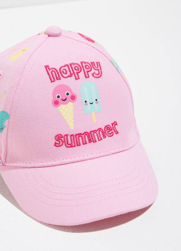 Baseball cap with pattern on the back | OVS