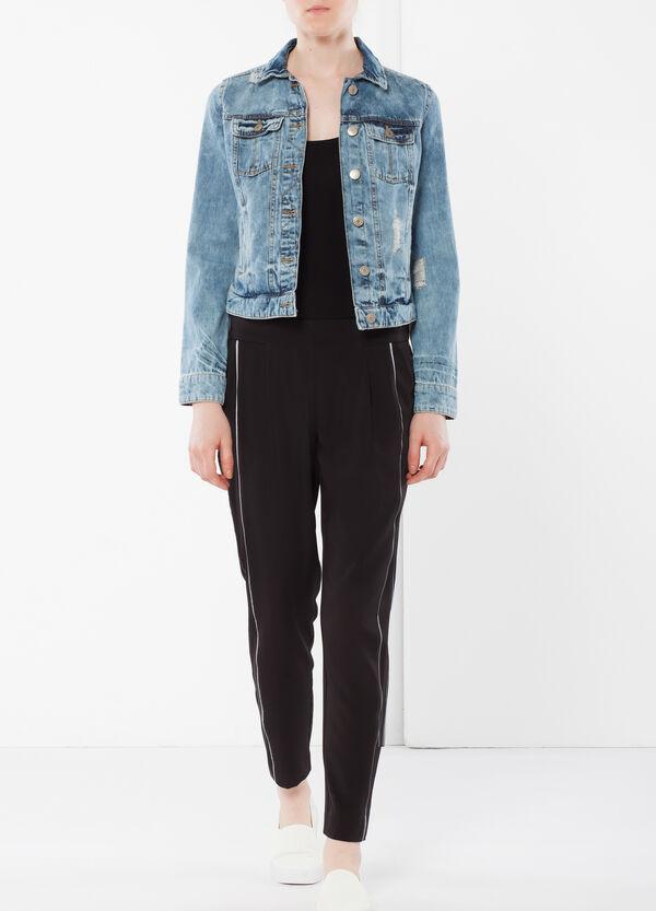 Pantaloni vita alta con banda laterale | OVS