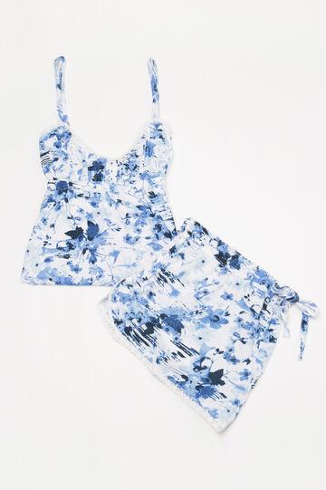 Floral viscose short pyjamas