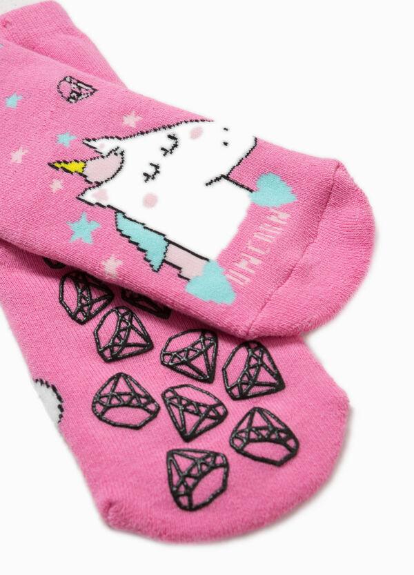 Unicorn embroidered slipper socks | OVS