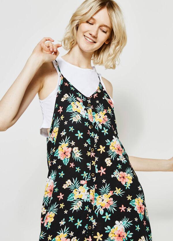 Printed suede dress | OVS