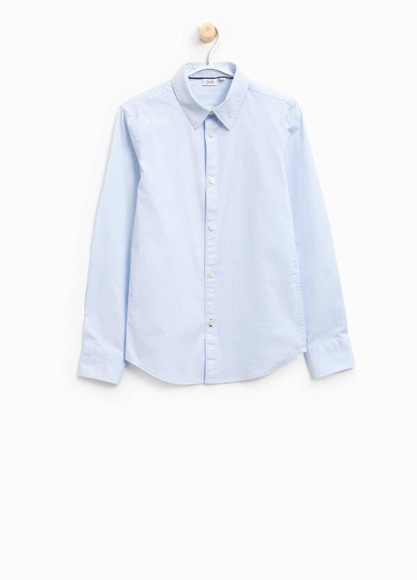 Camicia in cotone stretch tinta unita | OVS