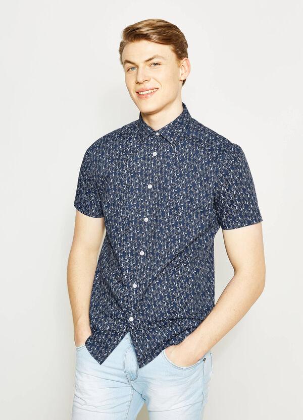 Camicia casual regular fit stampa barchette | OVS