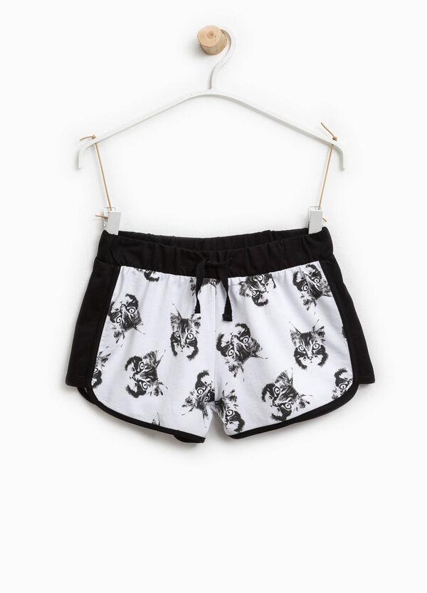 Shorts in cotone stampa gatti | OVS