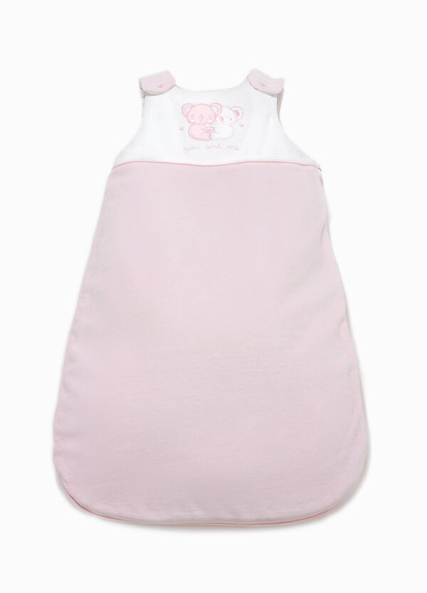 Sleeveless baby sleeping bag with patch | OVS