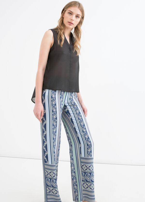 Pantaloni vita alta stretch stampati | OVS