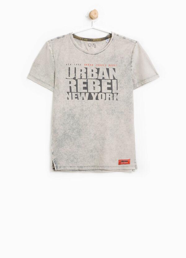 T-shirt maltinta stampa lettering | OVS