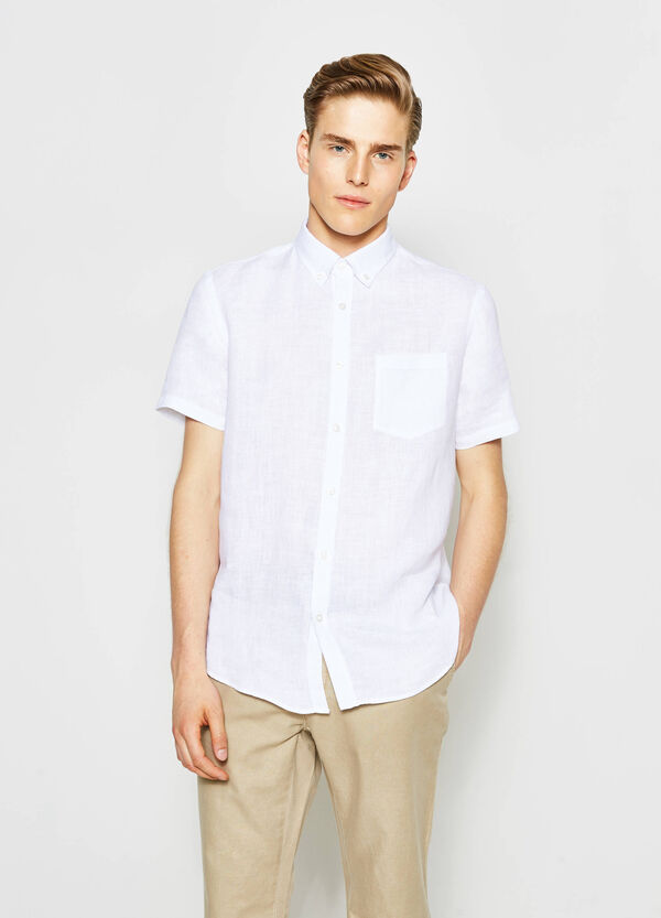 Camicia casual regular fit con taschino   OVS