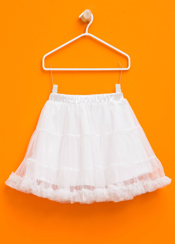 Tulle skirt with peplum hem | OVS