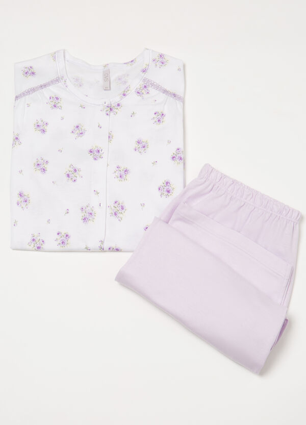 Curvy 100% cotton floral pyjamas | OVS