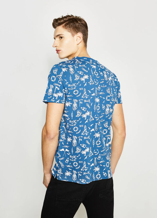 Patterned cotton T-shirt | OVS