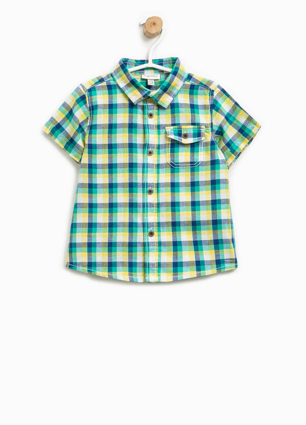 Checked shirt with short sleeves | OVS