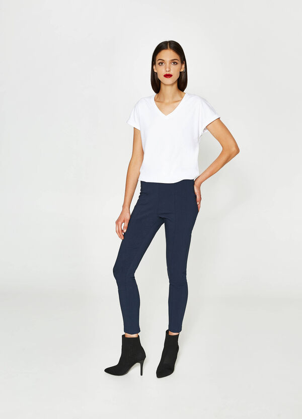 Treggings con piega stretch | OVS