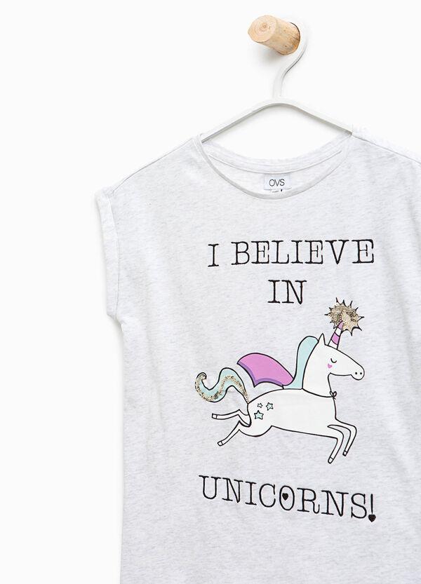 Unicorn print cotton T-shirt   OVS