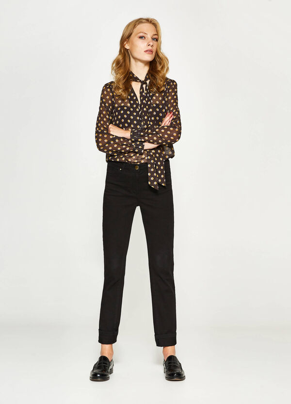 Semi-sheer blouse with print   OVS