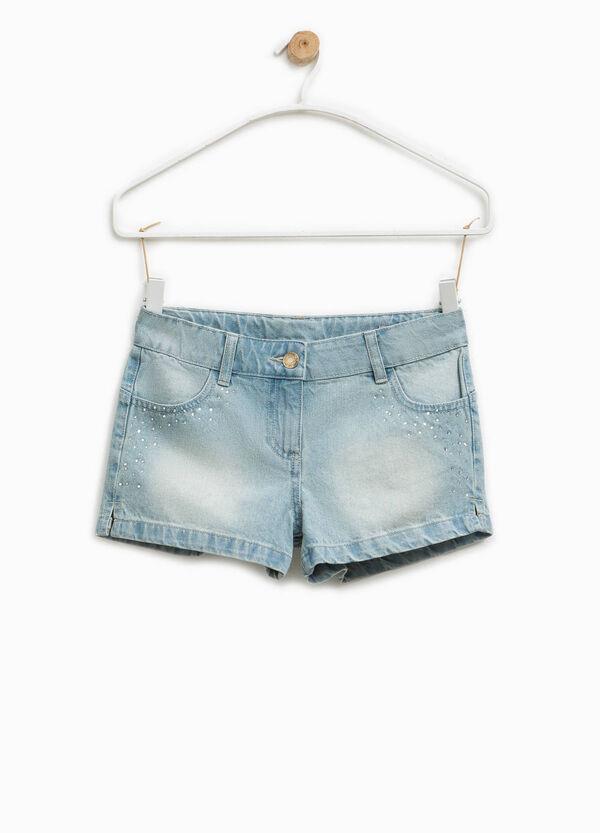 Shorts di jeans con strass | OVS