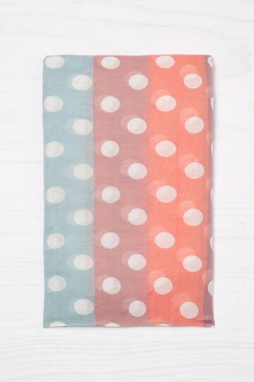 Multicoloured print scarf