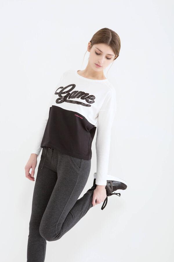 Pantaloni cotone stretch coulisse | OVS
