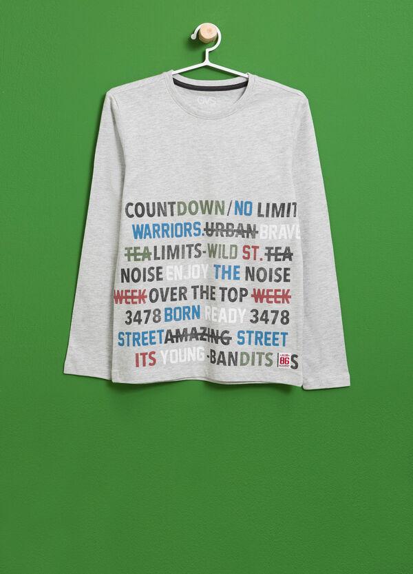 T-shirt cotone e viscosa stampa lettering | OVS