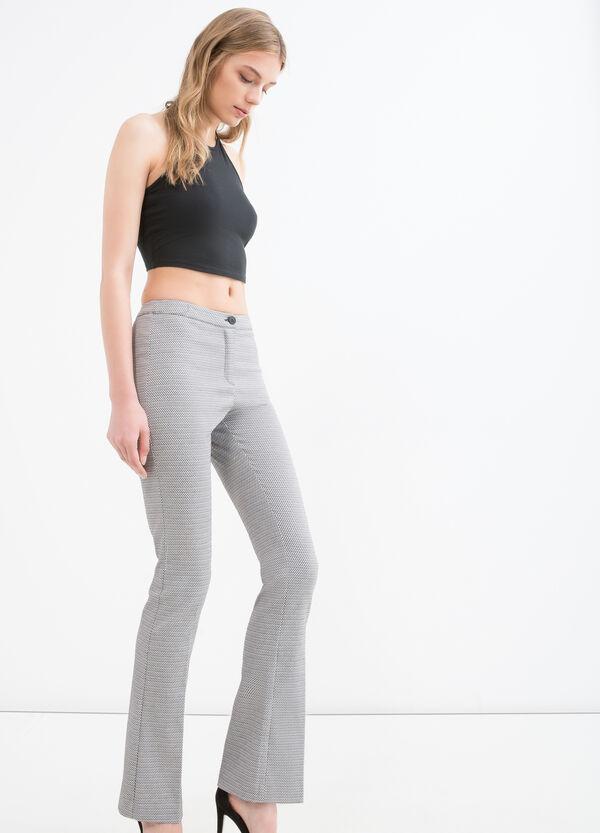 Pantaloni stretch a quadretti | OVS
