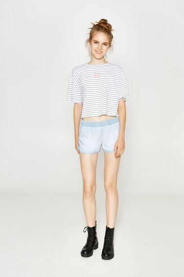 Regular-fit shorts in 100% cotton