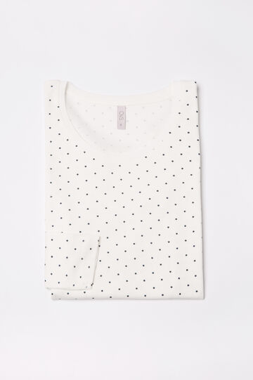 Printed pyjama top in 100% cotton