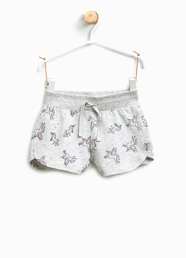 Unicorn patterned cotton shorts | OVS