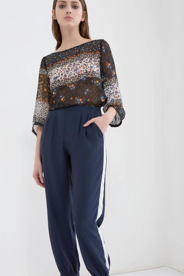Pantaloni vita alta elasticata cotone | OVS
