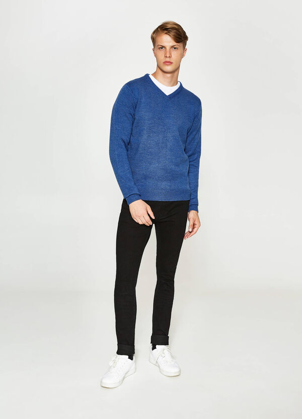 Pullover tricot con scollo a V | OVS