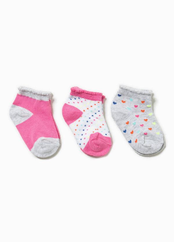 Set tre paia di calze unito e fantasia | OVS