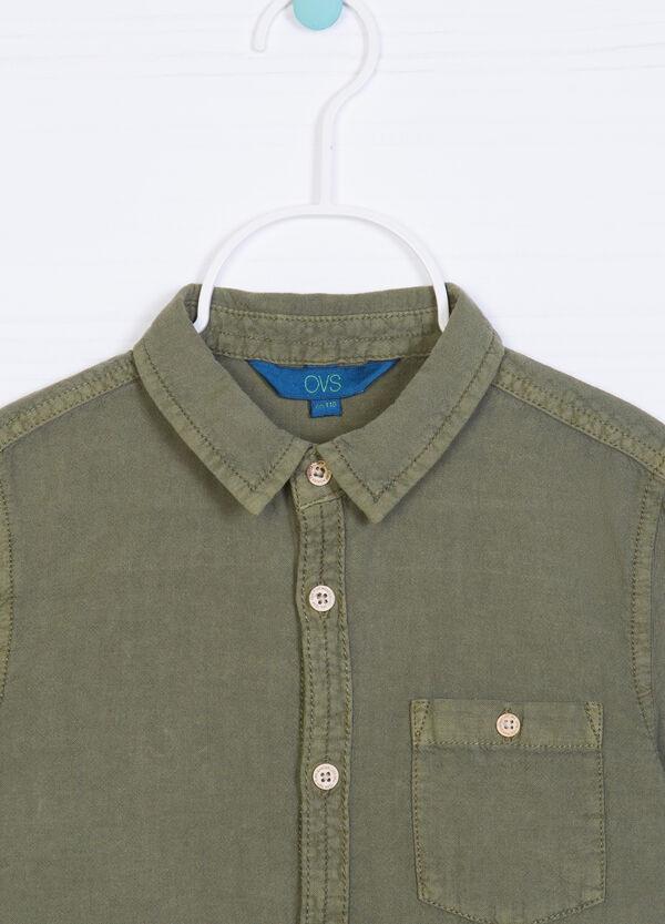 Solid colour linen and cotton shirt | OVS