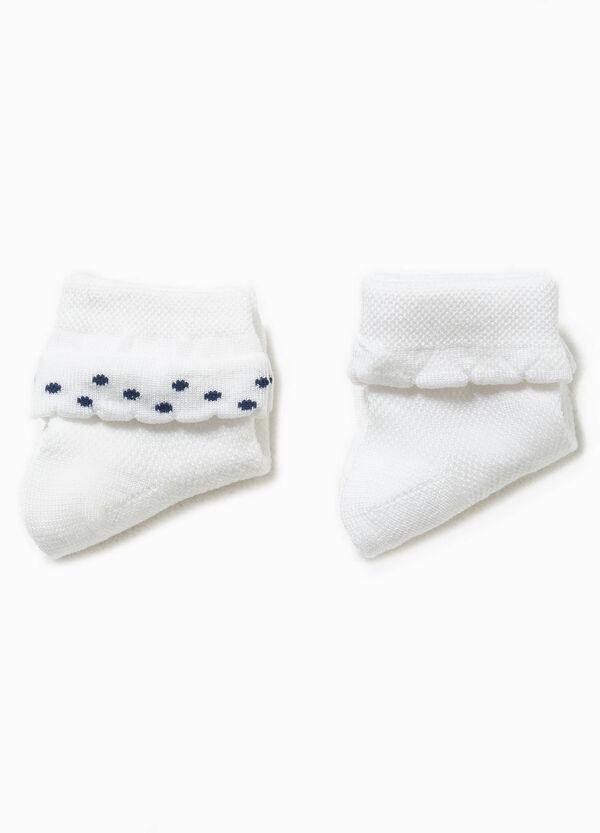 Set due paia di calze unito con ricamo | OVS