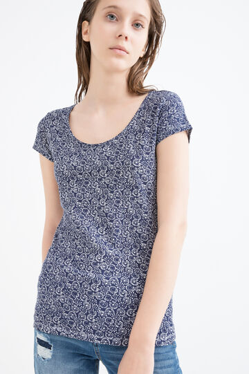 T-shirt stampata cotone stretch