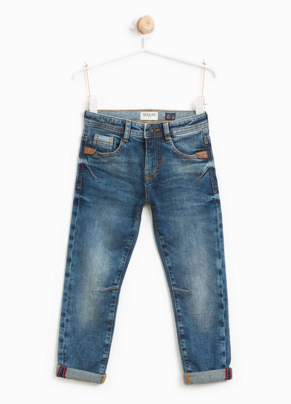 Worn-effect jeans with inserts | OVS