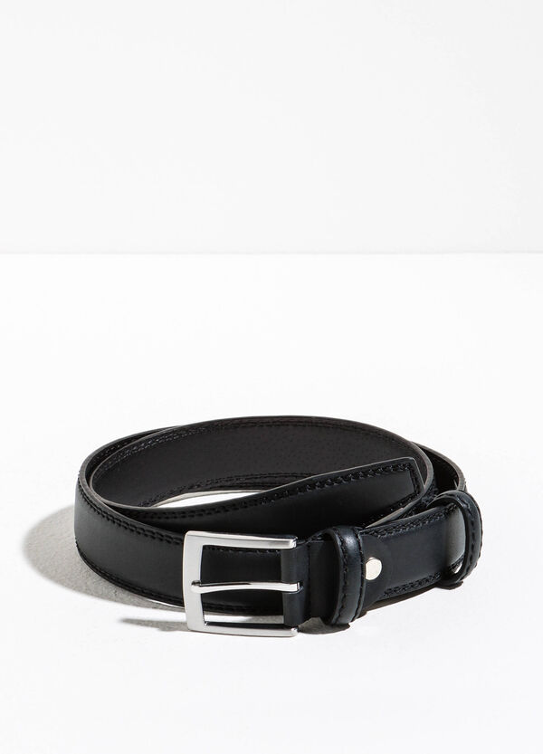 Solid colour leather look belt | OVS